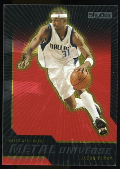 2008/09 Upper Deck SkyBox Metal Universe Precious Metal Gems Red #41 Jason Terry /50