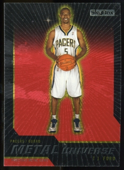 2008/09 Upper Deck SkyBox Metal Universe Precious Metal Gems Red #47 T.J. Ford /50