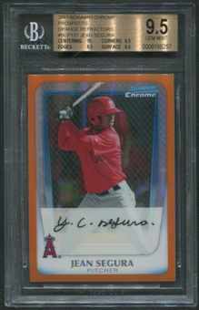 2011 Bowman Chrome #BCP131 Jean Segura Prospects Rookie Orange Refractor #03/25 BGS 9.5