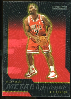 2008/09 Upper Deck SkyBox Metal Universe Precious Metal Gems Red #58 Ben Gordon /50