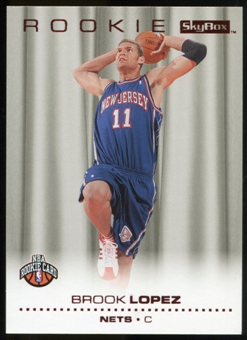 2008/09 Upper Deck SkyBox Ruby #210 Brook Lopez /50