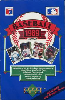 1989 Upper Deck High # Baseball Wax Box