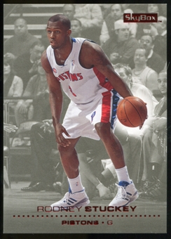 2008/09 Upper Deck SkyBox Ruby #43 Rodney Stuckey /50