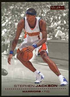 2008/09 Upper Deck SkyBox Ruby #50 Stephen Jackson /50
