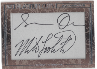 2013 Press Pass Platinum Cuts Signature Susan Olsen and Mike Lookinland Autograph