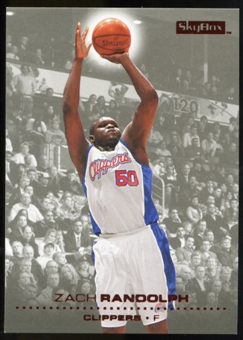 2008/09 Upper Deck SkyBox Ruby #66 Zach Randolph /50
