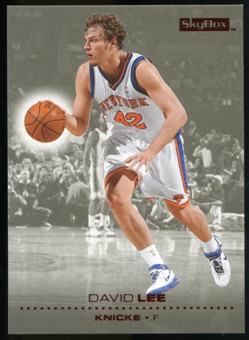 2008/09 Upper Deck SkyBox Ruby #110 David Lee /50