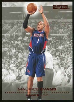 2008/09 Upper Deck SkyBox Ruby #115 Maurice Evans /50