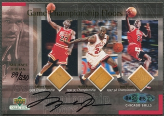 1999/00 Upper Deck Michael Jordan Game Championship Floors Auto #89/230