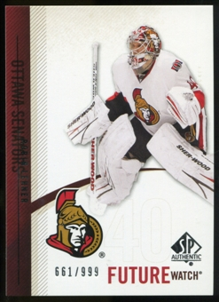 2010/11 Upper Deck SP Authentic #239 Robin Lehner RC /999