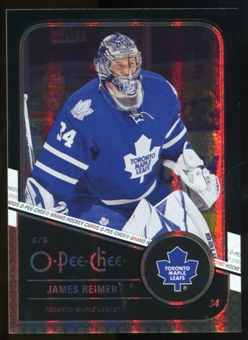 2011/12 Upper Deck O-Pee-Chee Black Rainbow #93 James Reimer /100