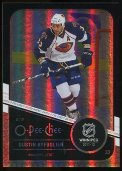 2011/12 Upper Deck O-Pee-Chee Black Rainbow #164 Dustin Byfuglien /100