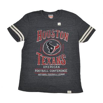 Houston Texans Junk Food Navy Tailgate Tri-Blend Tee Shirt (Adult M)