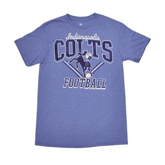 Indianapolis Colts Junk Food Heathered Blue Gridiron Tee Shirt (Adult XL)