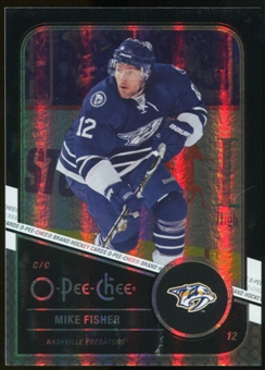 2011/12 Upper Deck O-Pee-Chee Black Rainbow #308 Mike Fisher /100