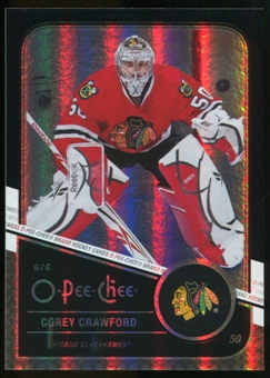 2011/12 Upper Deck O-Pee-Chee Black Rainbow #403 Corey Crawford /100