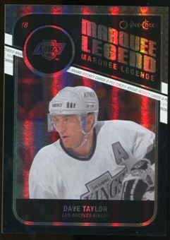 2011/12 Upper Deck O-Pee-Chee Black Rainbow #529 Dave Taylor L /100
