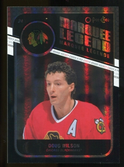 2011/12 Upper Deck O-Pee-Chee Black Rainbow #542 Doug Wilson L /100