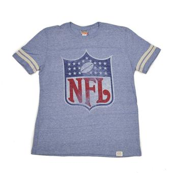 Junk Food NFL Shield Light Blue Tee Shirt (Adult M)
