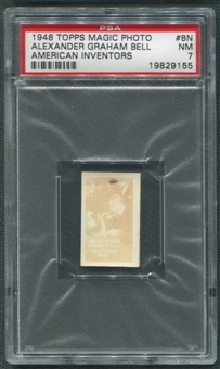 1948 Topps Magic Photos #N8 Alexander Graham Bell PSA 7 (NM) *9155