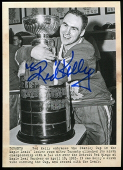 2011/12 Upper Deck Parkhurst Champions Autographs #113 Red Kelly I WIRE Autograph