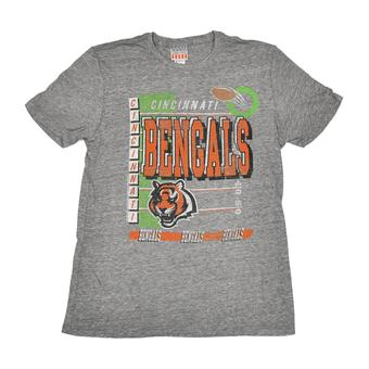 Cincinnati Bengals Junk Food Gray Touchdown Tri-Blend Tee Shirt (Adult L)