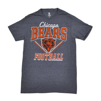 Chicago Bears Junk Food Heather Navy Gridiron Tee Shirt (Adult XL)
