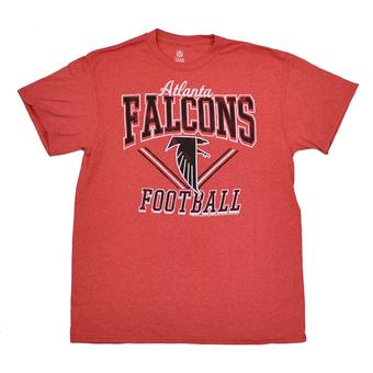 Atlanta Falcons Junk Food Heather Red Gridiron Tee Shirt (Adult S)