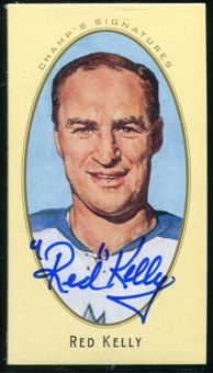 2011/12 Upper Deck Parkhurst Champions Champ's Mini Signatures #21 Red Kelly Autograph
