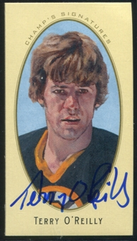 2011/12 Upper Deck Parkhurst Champions Champ's Mini Signatures #25 Terry O'Reilly Autograph
