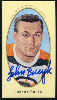 2011/12 Upper Deck Parkhurst Champions Champ's Mini Signatures #27 Johnny Bucyk Autograph