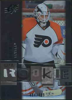 2009/10 Upper Deck SPx #117 Johan Backlund RC /499