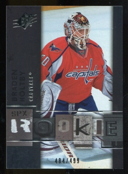 2009/10 Upper Deck SPx #125 Braden Holtby RC /499