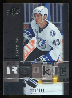2009/10 Upper Deck SPx #128 James Wright RC /499