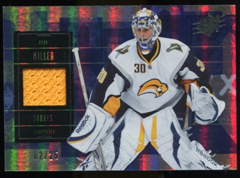 2009/10 Upper Deck SPx Spectrum #32 Ryan Miller Jersey /25