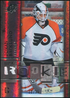 2009/10 Upper Deck SPx Spectrum #117 Johan Backlund 12/25
