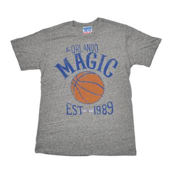 Orlando Magic Junk Food Gray Established Tri Blend Tee Shirt (Adult S)