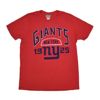 New York Giants Junk Food Red Kick Off Vintage Tee Shirt (Adult M)