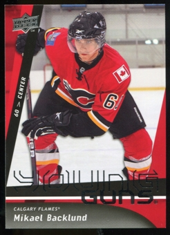 2009/10 Upper Deck #454 Mikael Backlund YG RC