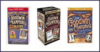 COMBO DEAL - Upper Deck Goodwin Champions Blaster Box (2014, 2013, 2012)