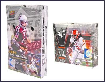COMBO DEAL - 2014 Upper Deck Football Hobby Boxes (Upper Deck Hobby, UD SPx)