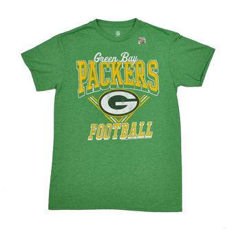 Green Bay Packers Junk Food Kelly Green Gridiron Tee Shirt (Adult M)