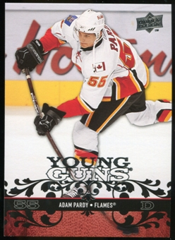 2008/09 Upper Deck #203 Adam Pardy YG RC