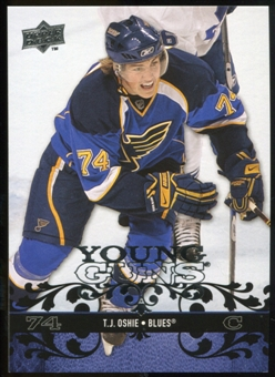 2008/09 Upper Deck #218 T.J. Oshie YG RC
