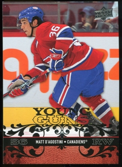 2008/09 Upper Deck #225 Matt D'Agostini YG RC