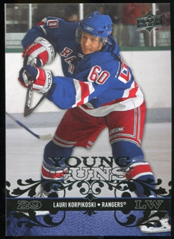 2008/09 Upper Deck #230 Lauri Korpikoski YG RC