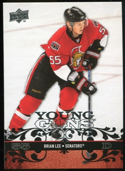 2008/09 Upper Deck #231 Brian Lee YG RC