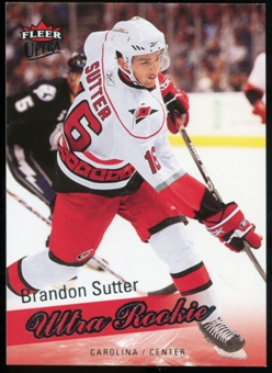2008/09 Upper Deck Fleer Ultra #255 Brandon Sutter RC