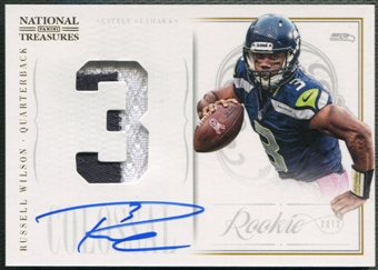 2012 Panini National Treasures #20 Russell Wilson Rookie Colossal Patch Auto #13/25