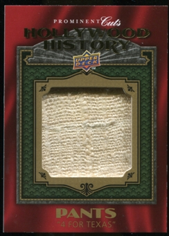 2009 Upper Deck Prominent Cuts Hollywood History Relics #HH1 Frank Sinatra